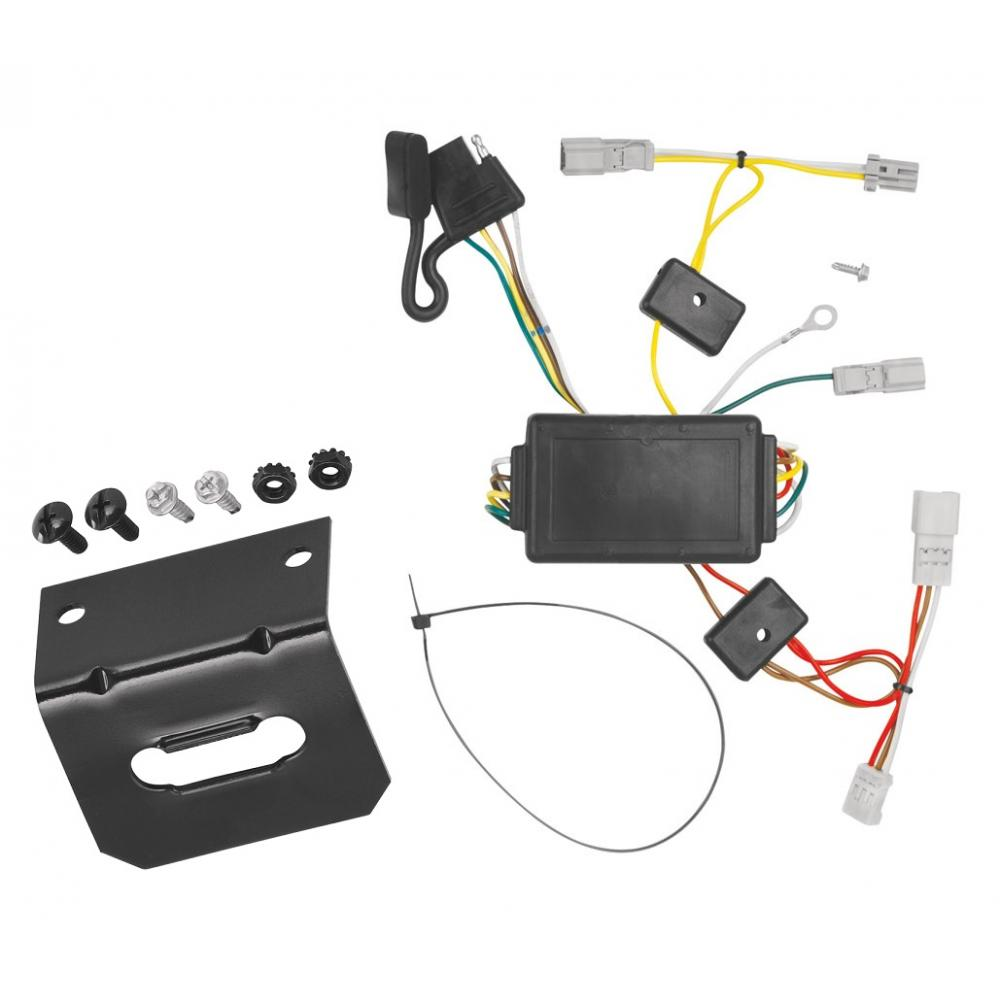 Trailer Wiring and Bracket For 03-05 Honda Accord 2 Dr. Coupe 4-Flat Harness  Plug PlayTrailerJacks.com