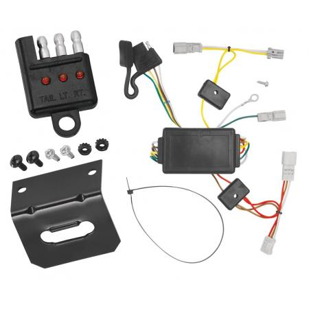 Trailer Wiring and Bracket and Light Tester For 03-05 Honda Accord 2 Dr. Coupe 4-Flat Harness Plug Play