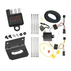 Trailer Wiring and Bracket and Light Tester For 12-15 Chevrolet Captiva Sport 08-09 Saturn Vue 4-Flat Harness Plug Play