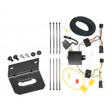 Trailer Wiring and Bracket For 12-15 Chevrolet Captiva Sport 08-09 Saturn Vue 4-Flat Harness Plug Play