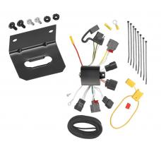Trailer Wiring and Bracket For 07-10 Chrysler Sebring All Styles incl. Convertible 4-Flat Harness Plug Play