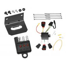 Trailer Wiring and Bracket and Light Tester For 08-10 Dodge Avenger All Styles 4-Flat Harness Plug Play