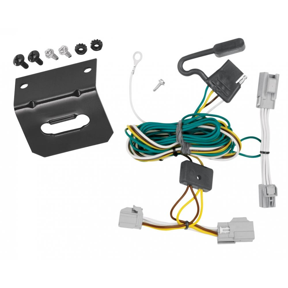 Trailer Wiring and Bracket For 08-09 Ford Taurus 4 Dr. Sedan 08-09 Mercury  Sable 4-Flat Harness Plug PlayTrailerJacks.com