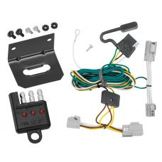 Trailer Wiring and Bracket and Light Tester For 08-09 Ford Taurus 4 Dr. Sedan 08-09 Mercury Sable 4-Flat Harness Plug Play