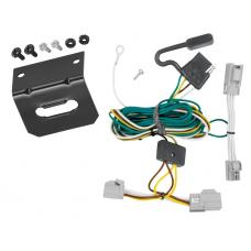 Trailer Wiring and Bracket For 08-09 Ford Taurus 4 Dr. Sedan 08-09 Mercury Sable 4-Flat Harness Plug Play