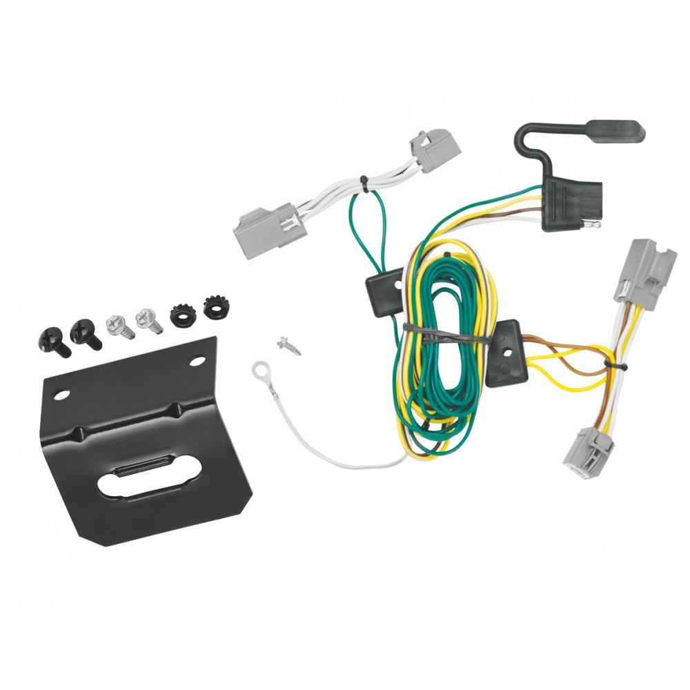 Trailer Wiring and Bracket For 08-09 Ford Taurus X All Styles 4-Flat Harness  Plug PlayTrailerJacks.com