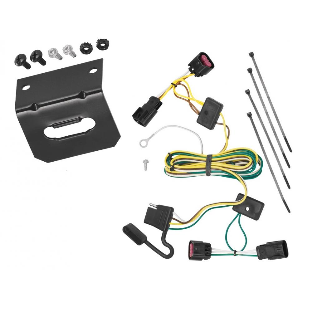 trailer wiring and bracket for 08-12 buick enclave chevy malibu except ltz  09-12 traverse