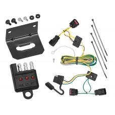 Trailer Wiring and Bracket and Light Tester For 08-12 Buick Enclave Chevy Malibu Except LTZ 09-12 Traverse 4-Flat Harness Plug Play