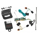 Trailer Wiring and Bracket and Light Tester For 07-12 GMC Acadia All Styles 4-Flat Harness Plug Play