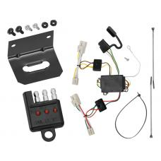 Trailer Wiring and Bracket and Light Tester For 11-18 KIA Optima 07-09 KIA Amanti All Styles 4-Flat Harness Plug Play