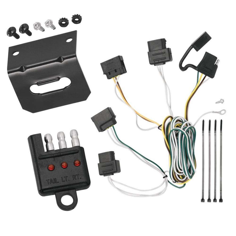 Trailer Wiring and Bracket and Light Tester For 08-11 Ford Focus All Styles  4-Flat Harness Plug PlayTrailerJacks.com