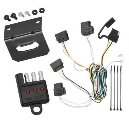 Trailer Wiring and Bracket and Light Tester For 08-11 Ford Focus All Styles 4-Flat Harness Plug Play