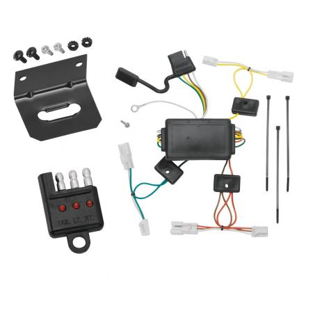 Trailer Wiring and Bracket and Light Tester For 03-08 Pontiac Vibe All Styles 4-Flat Harness Plug Play