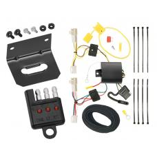 Trailer Wiring and Bracket and Light Tester For 09-13 Toyota Corolla All Styles 4-Flat Harness Plug Play