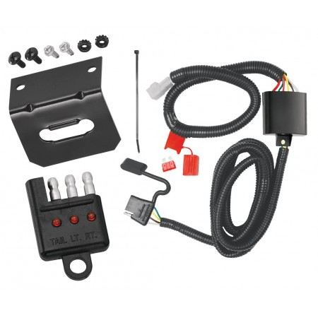 Trailer Wiring and Bracket and Light Tester For 08-14 Subaru Tribeca 06-07 B9 Tribeca 98-08 Forester 96-99 Legacy Wagon Outback 05-07 Legacy Wagon 4-Flat Harness Plug Play