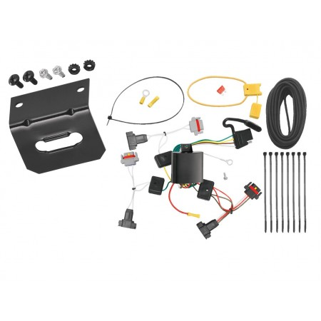 Trailer Wiring and Bracket For 01-10 Chrysler PT Cruiser All Styles 05-10 Convertible 4-Flat Harness Plug Play