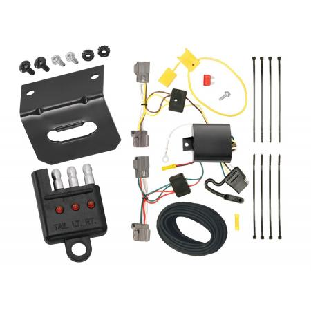 Trailer Wiring and Bracket and Light Tester For 08-10 Volvo V70 Wagon without Optional Power Operated Tailgate 4-Flat Harness Plug Play
