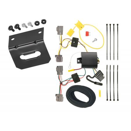 Trailer Wiring and Bracket For 08-10 Volvo V70 Wagon without Optional Power Operated Tailgate 4-Flat Harness Plug Play