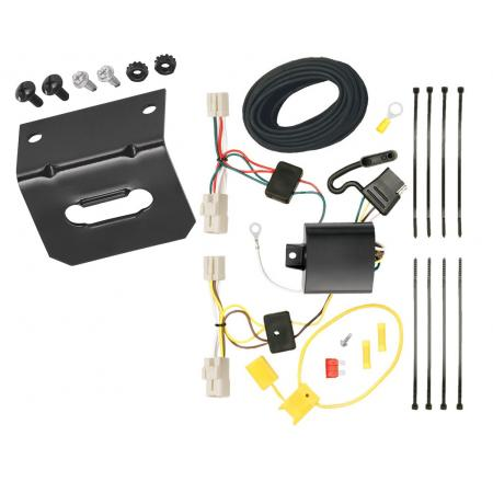 Trailer Wiring and Bracket For 08-11 Subaru Impreza 4 Dr. Sedan 4-Flat Harness Plug Play