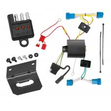 Trailer Wiring and Bracket and Light Tester For 08-13 Cadillac CTS 4 Dr. Sedan 4-Flat Harness Plug Play