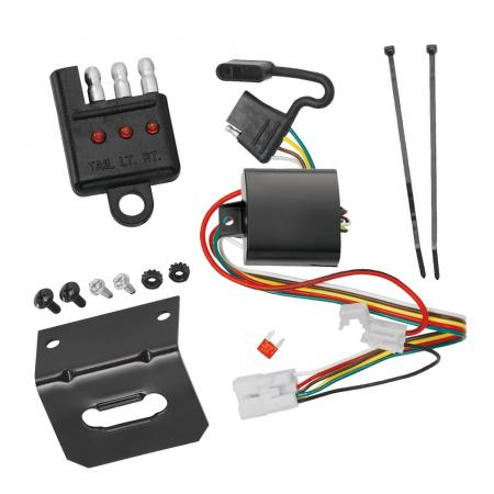 Trailer Wiring and Bracket and Light Tester For 16-19 Subaru Crosstrek 13-15 XV Except Hybrid 09-20 Forester 10-18 Outback Wagon Except Sport 4-Flat Harness Plug Play