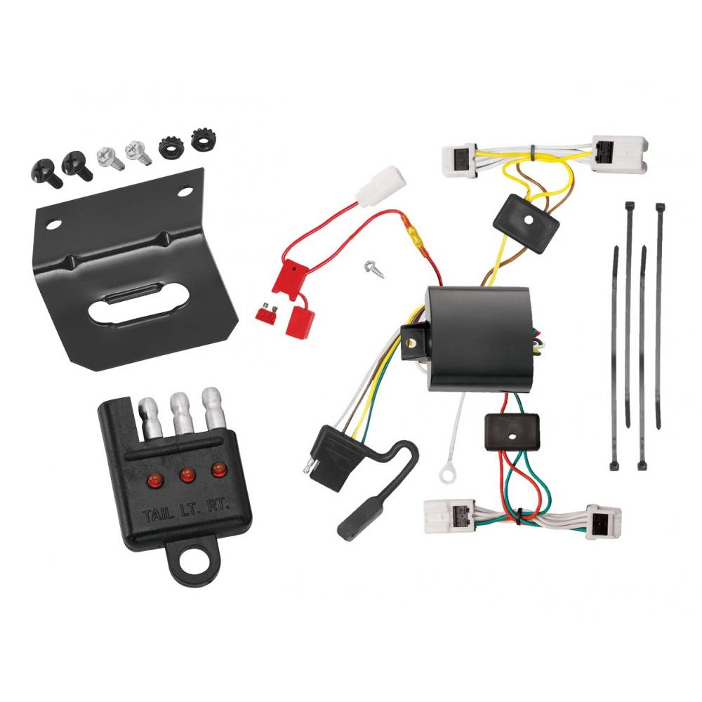 Trailer Wiring and cket and Light Tester For 04-09 Nissan Quest All on