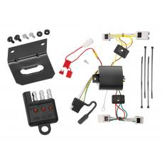 Trailer Wiring and Bracket and Light Tester For 04-09 Nissan Quest All Styles 4-Flat Harness Plug Play