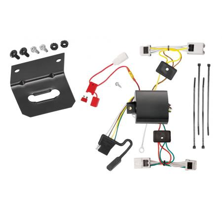 Trailer Wiring and Bracket For 04-09 Nissan Quest All Styles 4-Flat Harness Plug Play