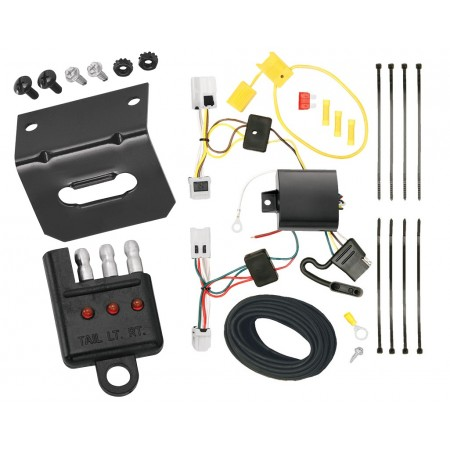 Trailer Wiring and Bracket and Light Tester For 07-15 Nissan Altima 04-14 Maxima 07-12 Sentra 4-Flat Harness Plug Play