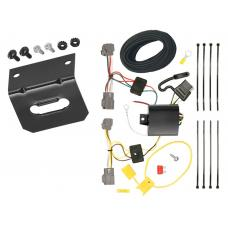 Trailer Wiring and Bracket For 11-13 Ford Fiesta 5 Dr. Hatchback 09-12 Lincoln MKS 4-Flat Harness Plug Play