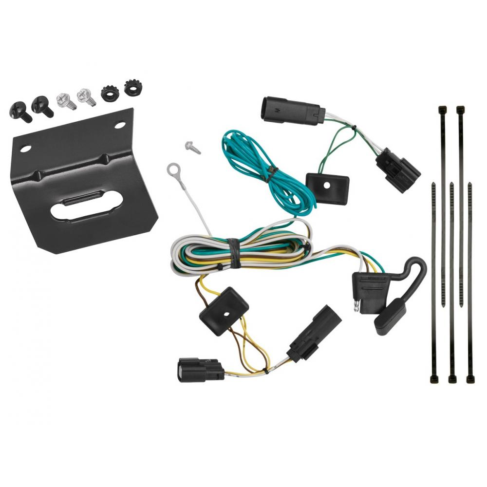 Trailer Wiring and Bracket For 09-20 Ford Flex All Styles 4-Flat Harness  Plug PlayTrailerJacks.com