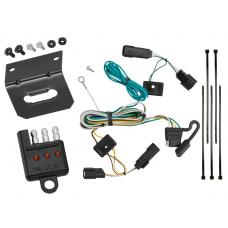 Trailer Wiring and Bracket and Light Tester For 09-20 Ford Flex All Styles 4-Flat Harness Plug Play