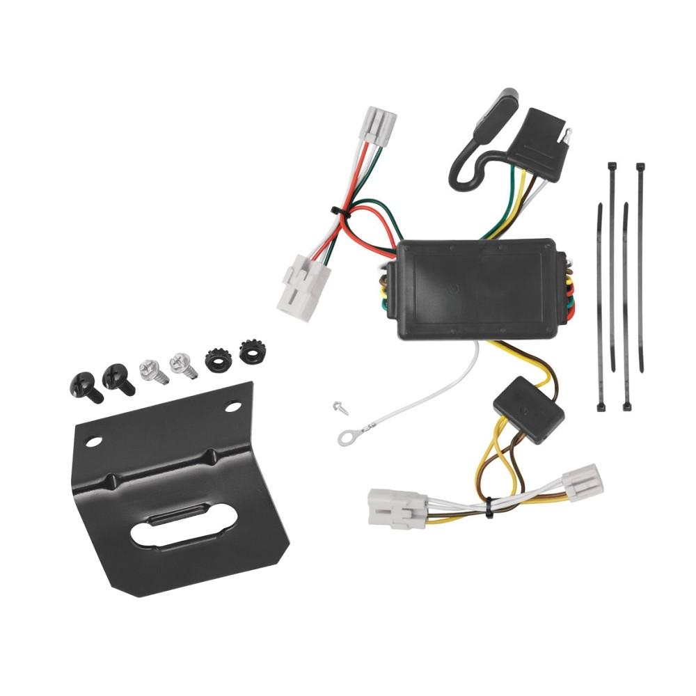 trailer wiring and bracket for 09 12 hyundai elantra touring 5 dr 01 06 santa fe 4 flat harness plug play jeep compass trailer wiring harness 2009 hyundai santa fe trailer wiring harness #11