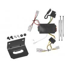 Trailer Wiring and Bracket For 09-12 Hyundai Elantra Touring 5 Dr. 01-06 Santa Fe 4-Flat Harness Plug Play