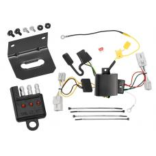 Trailer Wiring and Bracket and Light Tester For 09-11 Hyundai Genesis 4 Dr. Sedan 4-Flat Harness Plug Play