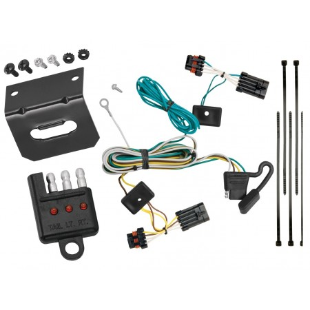 Trailer Wiring and Bracket and Light Tester For 05-09 Buick LaCrosse All Styles 4-Flat Harness Plug Play