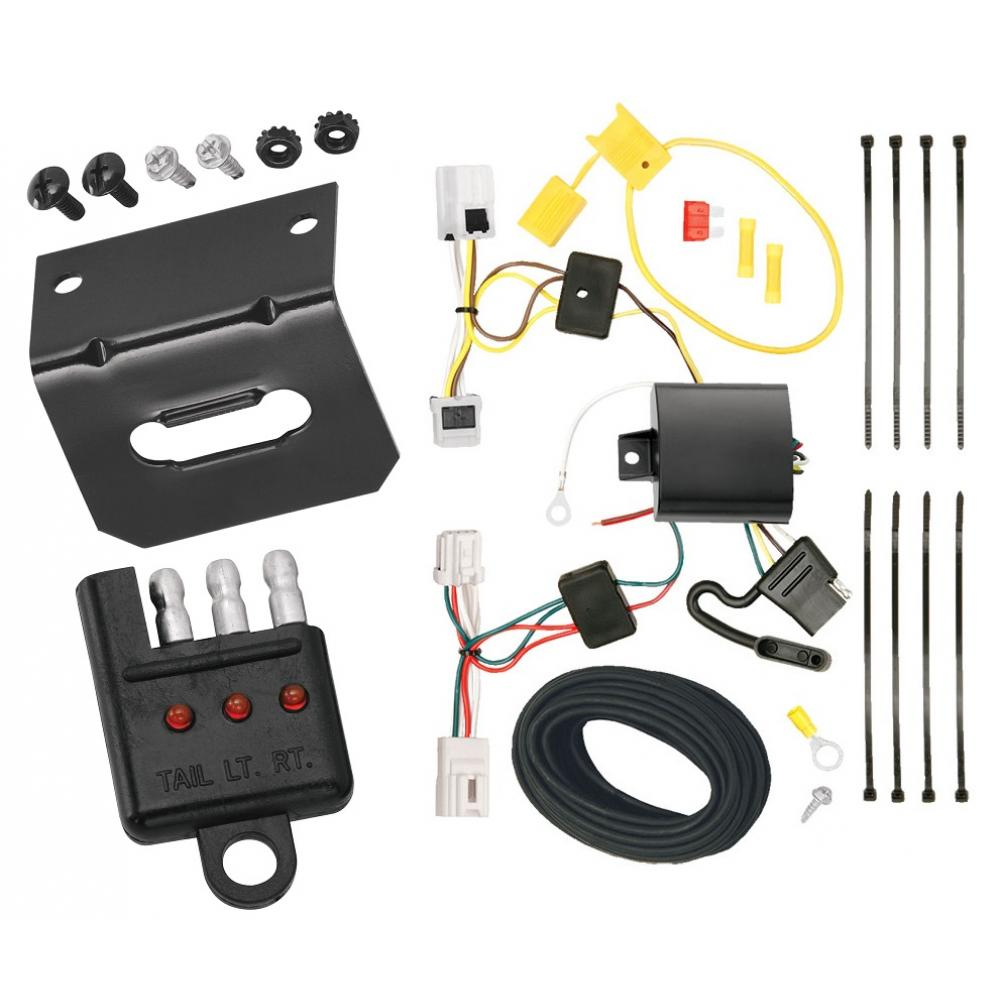 Trailer Wiring and cket and Light Tester For 08-20 Nissan Rogue 07-08 on