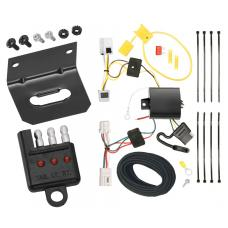 Trailer Wiring and Bracket and Light Tester For 08-20 Nissan Rogue 07-08 Infiniti G35 09-13 G37 4-Flat Harness Plug Play