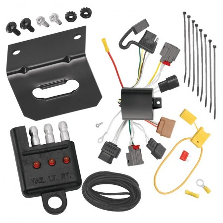 Trailer Wiring and Bracket and Light Tester For 09-13 Mazda 6 Sedan 4-Flat Harness Plug Play