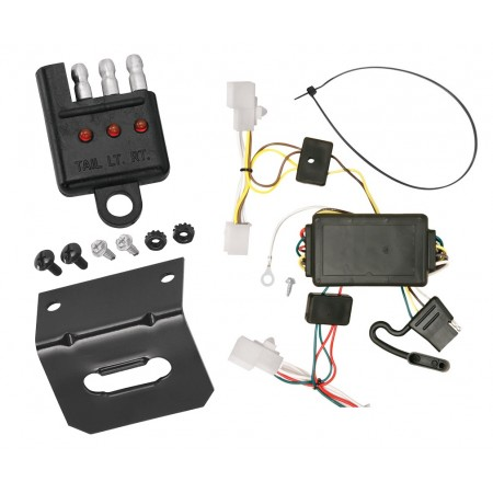 Trailer Wiring and Bracket and Light Tester For 07-10 Scion tC All Styles 4-Flat Harness Plug Play