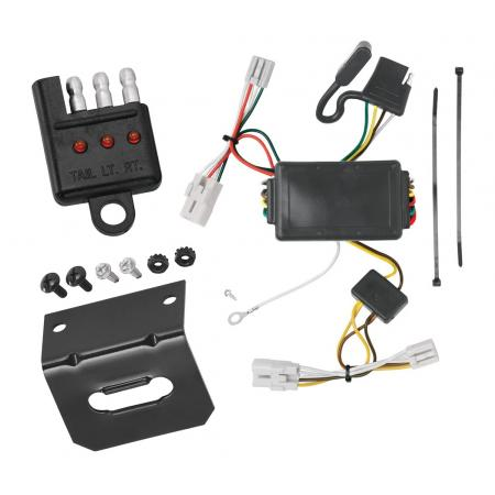 Trailer Wiring and Bracket and Light Tester For 04-06 Chevy Aveo 07-11 Aveo5 Hatchback 09-10 Pontiac G3 Hatchback 4-Flat Harness Plug Play