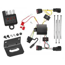 Trailer Wiring and Bracket and Light Tester For 10-11 Chevy Camaro All Styles 4-Flat Harness Plug Play