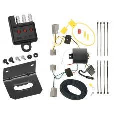 Trailer Wiring and Bracket and Light Tester For 10-19 Ford Mustang All Styles 4-Flat Harness Plug Play