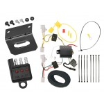 Trailer Wiring and Bracket and Light Tester For 07-12 Lexus ES350 All Styles 4-Flat Harness Plug Play