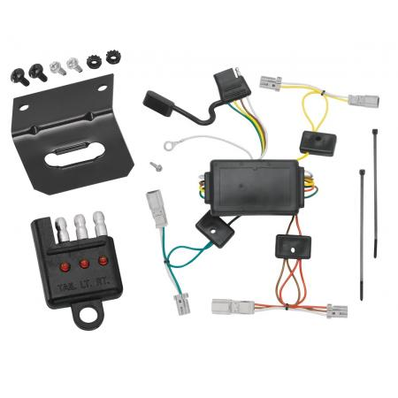 Trailer Wiring and Bracket and Light Tester For 04-08 Acura TL All Styles 4-Flat Harness Plug Play