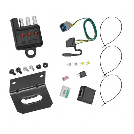 Trailer Wiring and Bracket and Light Tester For 09-14 Honda Ridgeline 09-11 Pilot All Styles 4-Flat Harness Plug Play