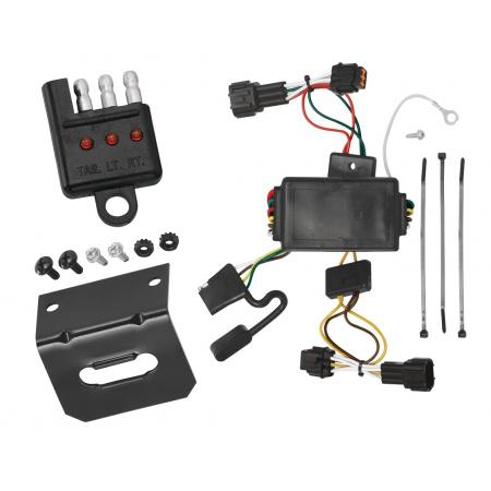 Trailer Wiring and Bracket and Light Tester For 09-12 Nissan Cube All Styles 4-Flat Harness Plug Play