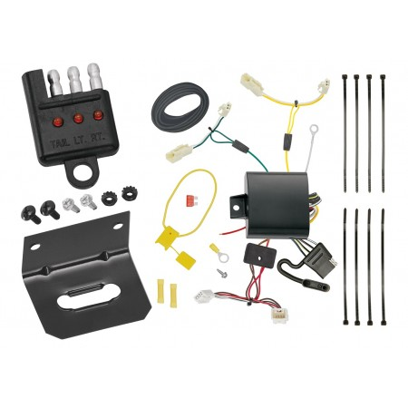Trailer Wiring and Bracket and Light Tester For 11-14 Toyota Sienna All Styles 15-20 Sienna SE 4-Flat Harness Plug Play