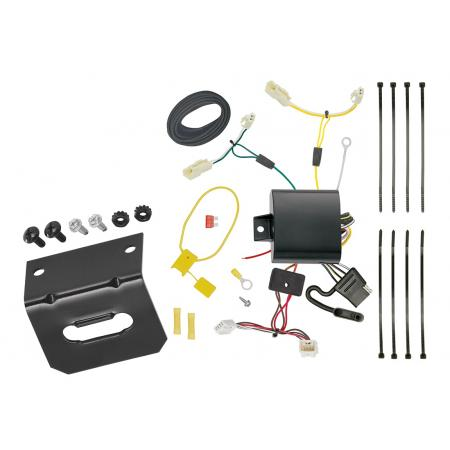 Trailer Wiring and Bracket For 11-14 Toyota Sienna All Styles 15-20 Sienna SE 4-Flat Harness Plug Play