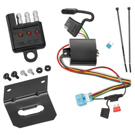 Trailer Wiring and Bracket and Light Tester For 07-12 Acura RDX 10-11 Honda Accord Crosstour 2012 Crosstour 4-Flat Harness Plug Play